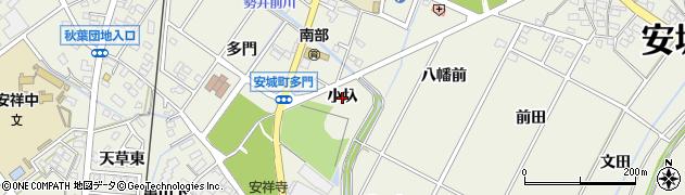 愛知県安城市安城町(小圦)周辺の地図