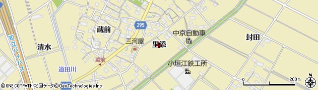 愛知県安城市福釜町(里添)周辺の地図