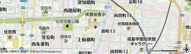 京都府京都市伏見区中之町周辺の地図