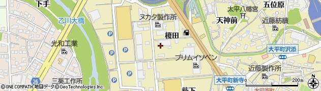 愛知県岡崎市大平町(榎田)周辺の地図