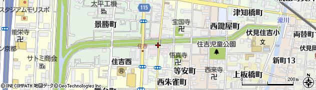 京都府京都市伏見区下神泉苑町周辺の地図