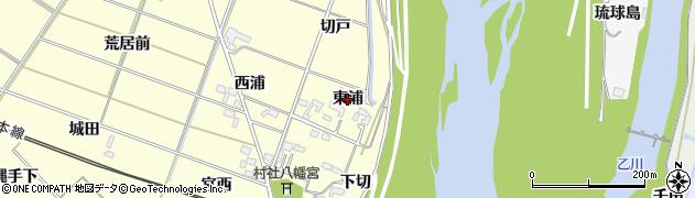 愛知県岡崎市渡町(東浦)周辺の地図