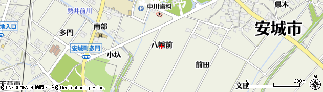 愛知県安城市安城町(八幡前)周辺の地図