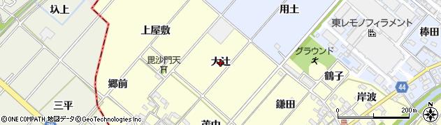 愛知県岡崎市島坂町(大辻)周辺の地図