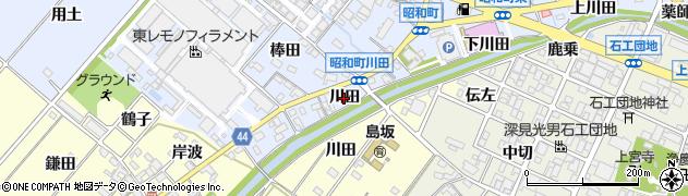 愛知県岡崎市昭和町(川田)周辺の地図