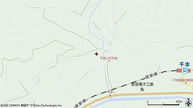 〒679-4346 兵庫県たつの市新宮町千本の地図