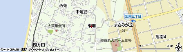 愛知県知多市大草(東畑)周辺の地図