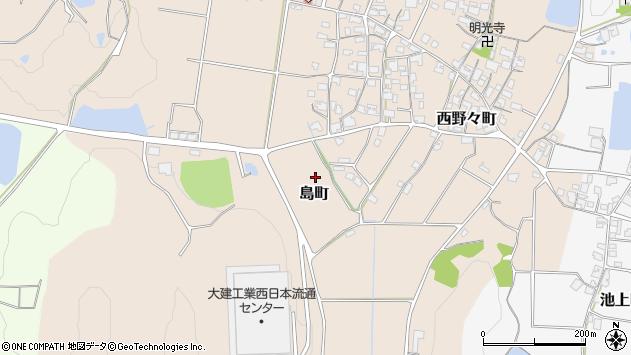 〒675-2431 兵庫県加西市島町の地図