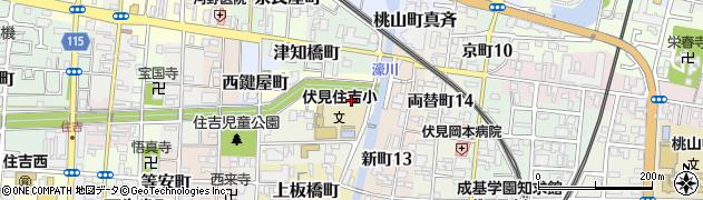 京都府京都市伏見区住吉町周辺の地図