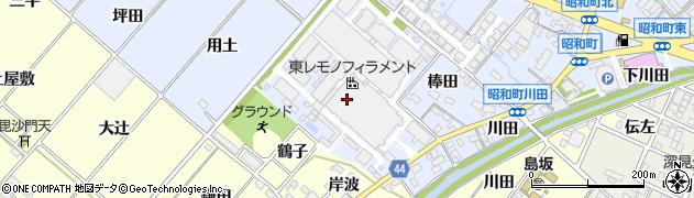 愛知県岡崎市昭和町(河原)周辺の地図