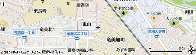 愛知県岡崎市明大寺町(硯田)周辺の地図