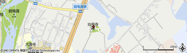 妙見寺周辺の地図