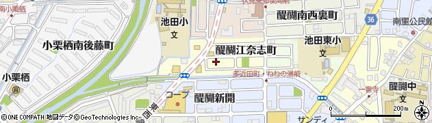 京都府京都市伏見区醍醐江奈志町周辺の地図