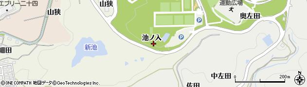 愛知県岡崎市洞町(池ノ入)周辺の地図