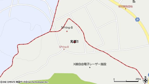 〒678-1205 兵庫県赤穂郡上郡町光都の地図