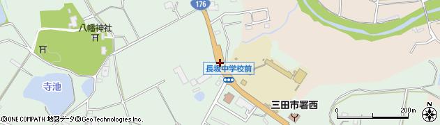 長坂学校前周辺の地図