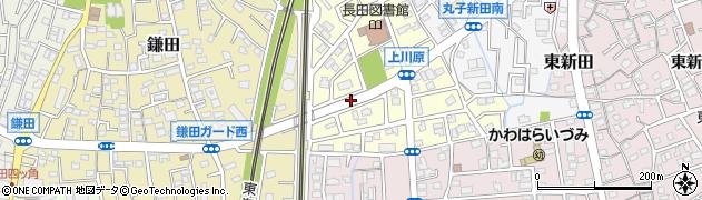 静岡県静岡市駿河区上川原周辺の地図