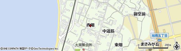 愛知県知多市大草(西畑)周辺の地図