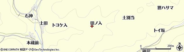 愛知県岡崎市蓬生町(田ノ入)周辺の地図