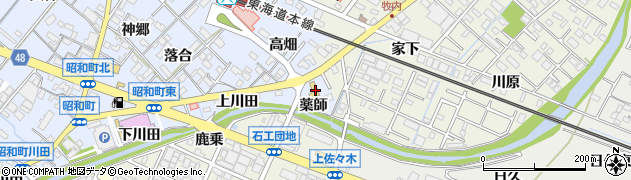 三嶋寿司昭和店受付用周辺の地図