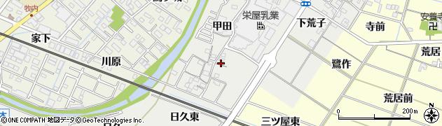愛知県岡崎市東牧内町甲田周辺の地図