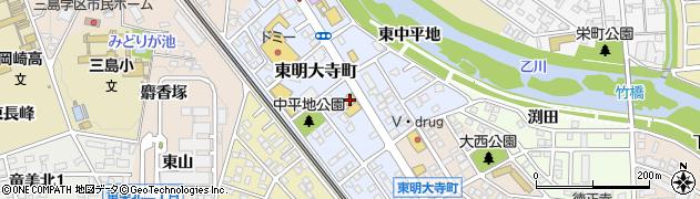 おはしcafeガスト 岡崎竜美ヶ丘店周辺の地図