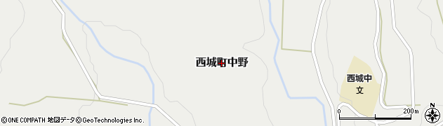 広島県庄原市西城町中野周辺の地図