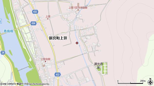 〒679-4303 兵庫県たつの市新宮町上笹の地図