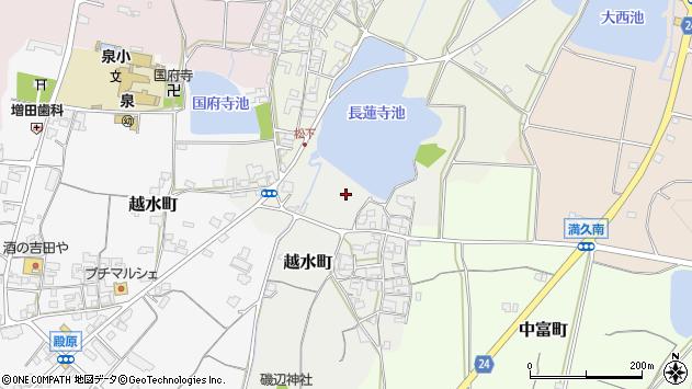 〒675-2441 兵庫県加西市越水町の地図