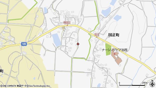 〒675-2401 兵庫県加西市国正町の地図