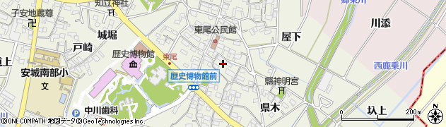愛知県安城市安城町(横町)周辺の地図