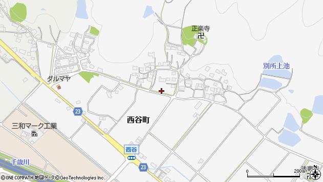 〒675-2366 兵庫県加西市西谷町の地図