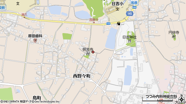 〒675-2426 兵庫県加西市西野々町の地図
