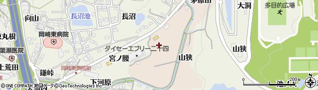 愛知県岡崎市高隆寺町(二本松)周辺の地図