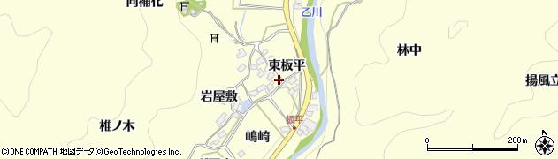愛知県岡崎市秦梨町(東板平)周辺の地図