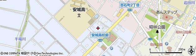 愛知県安城市赤松町(大北)周辺の地図