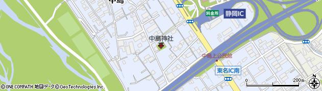 中島神社周辺の地図