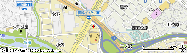 愛知県岡崎市大平町(石丸)周辺の地図
