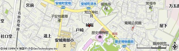 愛知県安城市安城町(城堀)周辺の地図