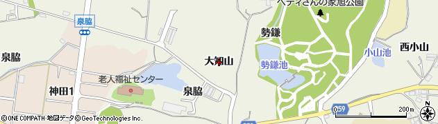 愛知県知多市金沢(大知山)周辺の地図