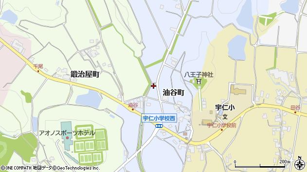 〒675-2404 兵庫県加西市油谷町の地図