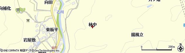 愛知県岡崎市秦梨町(林中)周辺の地図