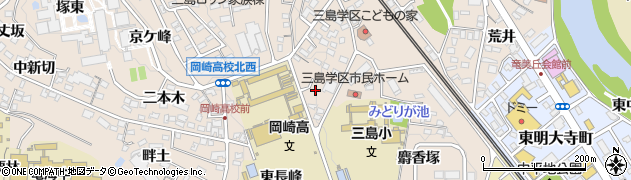 愛知県岡崎市明大寺町(山畑)周辺の地図