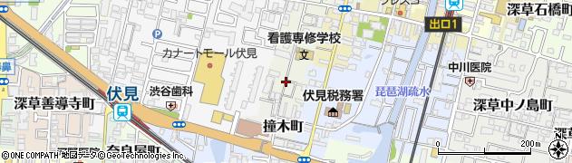 京都府京都市伏見区深草佐野屋敷町周辺の地図