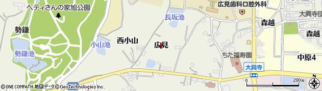愛知県知多市金沢(広見)周辺の地図