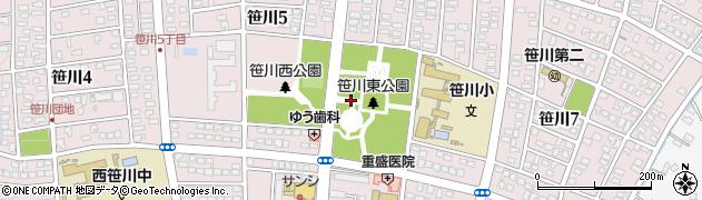 三重県四日市市笹川周辺の地図