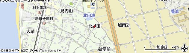 愛知県知多市大草(北ノ田)周辺の地図