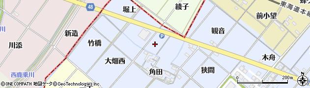 愛知県岡崎市昭和町(花ノ木)周辺の地図