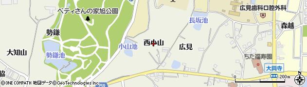 愛知県知多市金沢(西小山)周辺の地図