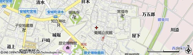 愛知県安城市安城町(赤塚)周辺の地図